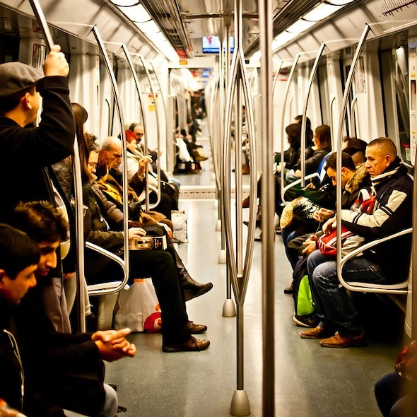 Foto z barcelonského metra