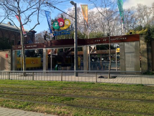 Vstup do barcelonské zoo