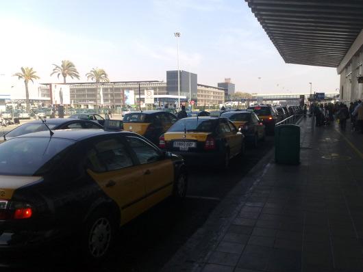 Taxi na Barcelonském letišti