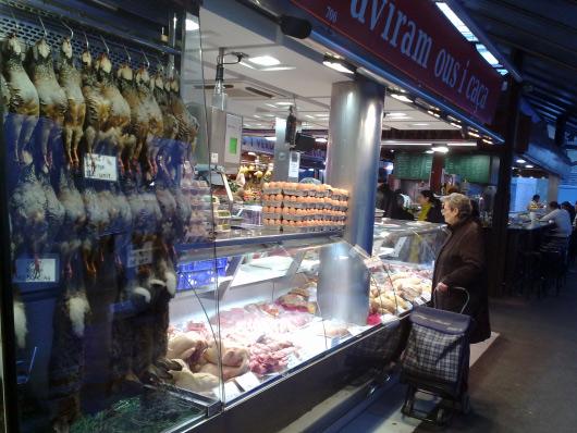 Fotografie z tržnice La Boqueria