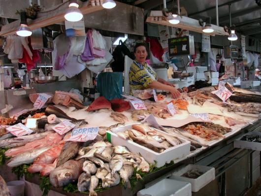 Fotografie tržnice La Boqueria
