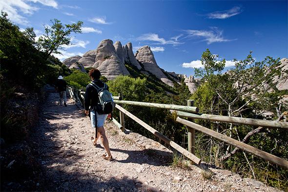 Obrázek kláštera Montserrat