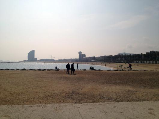 Fotografie pláží v Barceloně