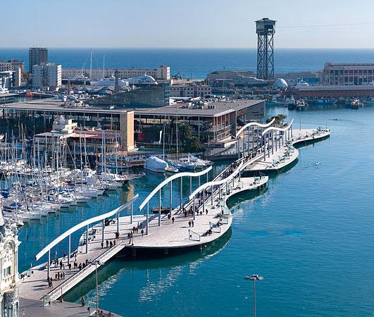 Promenáda v barcelonském přístavu Port Vell