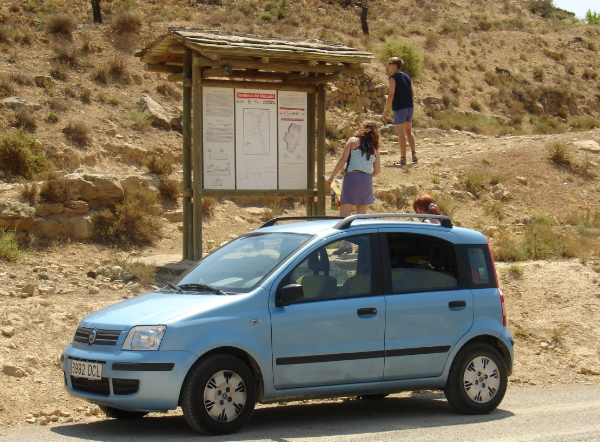 Půjčené auto Fiat Panda