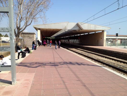 Vlak Renfe na barcelonském letišti