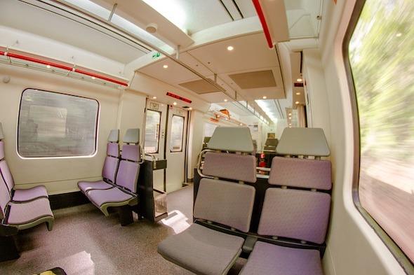 Interiér vlaku Renfe