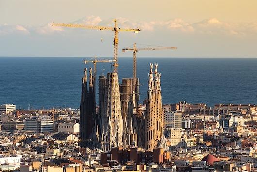 Ptačí pohled na Sagrada Familia