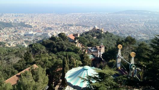 Pohled z kopce Tibidabo