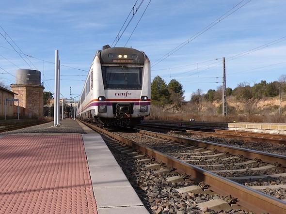Fotografie barcelonského vlaku firmy Renfe